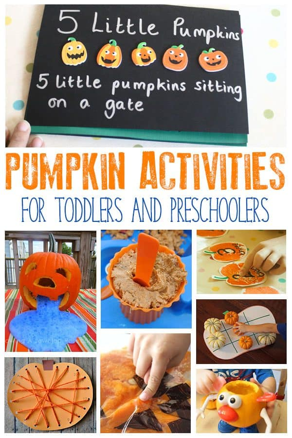 Pumpkin Activities for Toddlers and Preschoolers