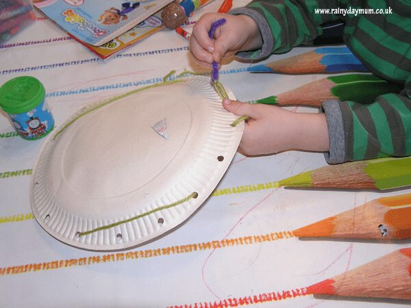 spider's web craft for preschoolers