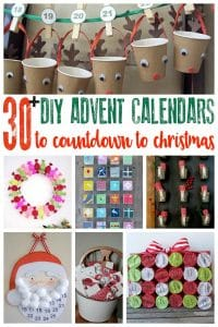 Over 30 creative ideas for making your own advent calendar to countdown to Christmas as a family. From easy DIY to handmade and sewn projects.