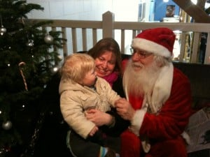 Visiting Santa for the First Time