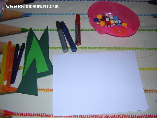 Christmas Card making creation station