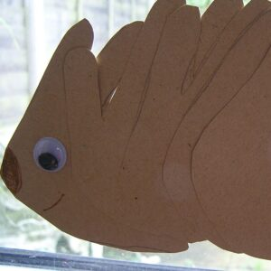 Hand Print Hedgehog Craft for Winter and Hibernating Animal Theme with Toddlers and Preschoolers