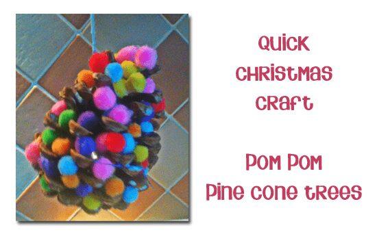 Pine Cone Pom Pom Tree