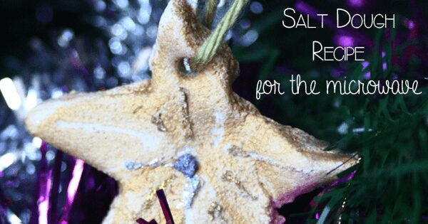Microwave Salt Dough Recipe for creating Christmas Decorations and Tree Ornaments. Saves time and can take as little as 3 minutes.