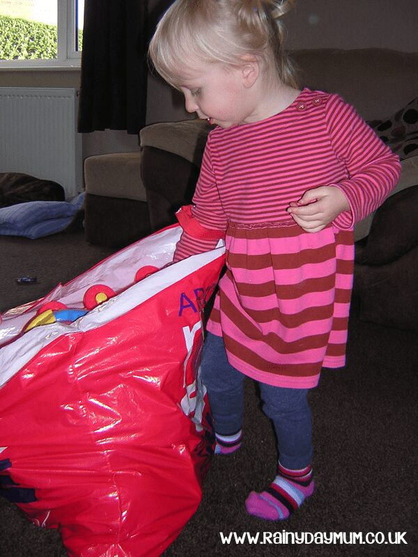 teaching toddlers about giving to others