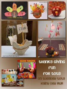 Thanks Giving fun for preschools
