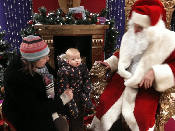 baby's first visit with santa