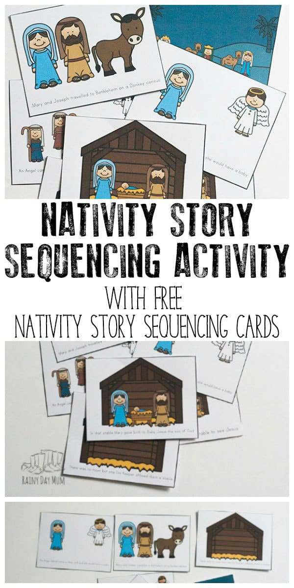Help your child understand the Christian meaning behind Christmas with this Nativity Story Sequencing Activity with FREE Nativity Story Cards to use.