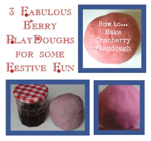 Berry playdough recipes