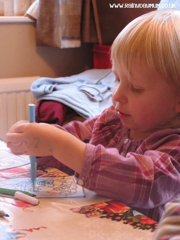 Nativity craft with toddlers
