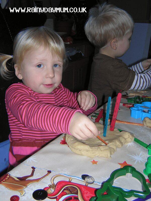 toddler playdough play