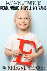 Easy, fun and simple hands-on activities for toddlers and preschoolers to learn to read, write and spell their own names.