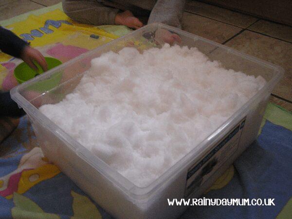 bringing snow indoors