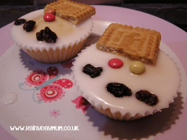 snowmen cupcakes for toddlers to make