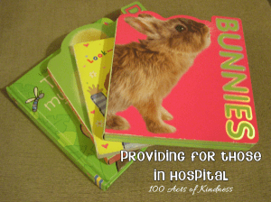 Donating books to children hospital