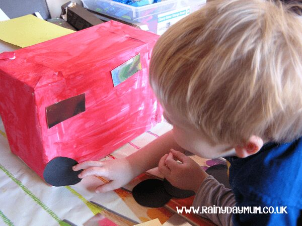 Bus craft for Toddlers and preschools