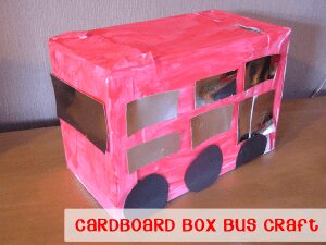 Cardboard Box Bus Craft
