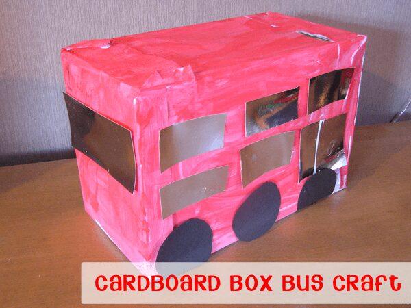 Cardboard Box Bus Craft