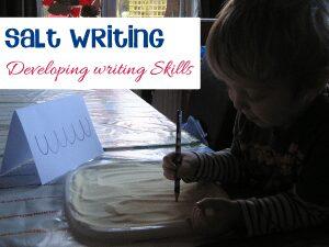 Preschool writing development activity