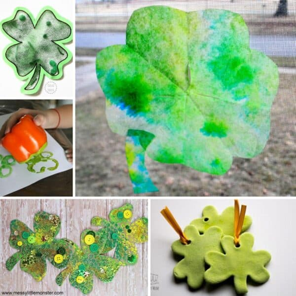 10 Simple and Easy Shamrock Crafts for Toddlers and Preschoolers to Make for St Patrick's Day