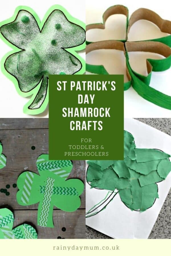 St Patyrick's Day Shamrock Crafts for Toddlers and Preschoolers