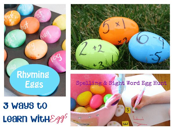 3 ways to learn with eggs - literacy and numeracy