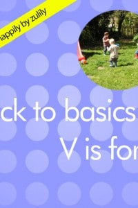 Back to Basics V is for…
