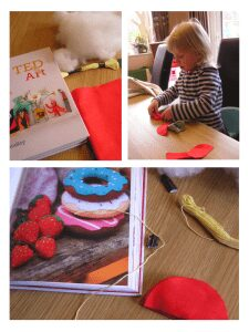 crafting with red ted art