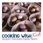 Chocolate Nests for kids to make