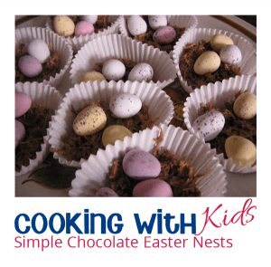 Chocolate Nests for kids to make