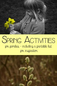 Spring Activities for Family Fun