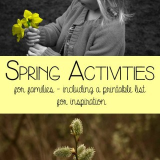 Spring Activities for Families - with a FREE printable list to inspire you to spend time together