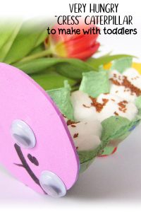 Very Hungry Cress Caterpillars craft to make with toddlers