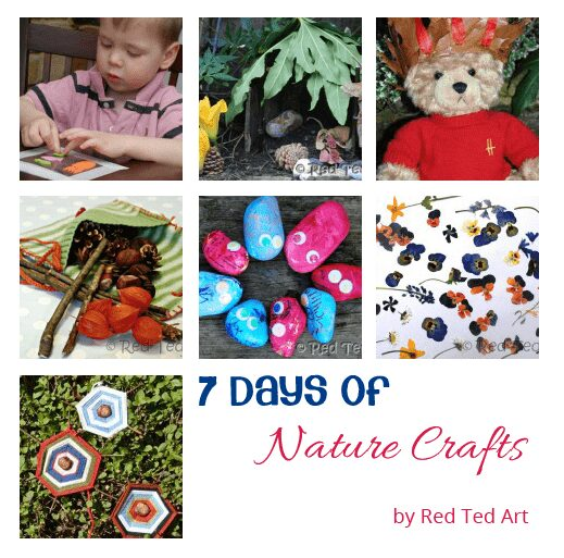 7 days of nature crafts from Red Ted Art kicking off a new series on Rainy Day Mum
