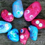 Rock Craft for kids one of the 7 days of Nature Craft by Red Ted Art shared over on Rainy Day Mum