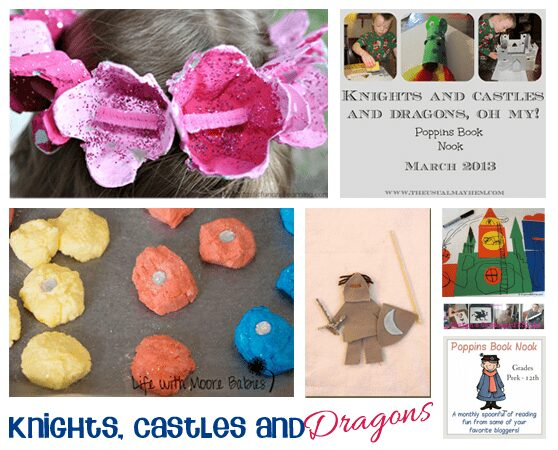 Activities for young tots that are based around knights, castles and dragons from Rainy Day Mum