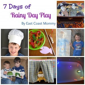 7 Days of Rainy Day Play from East Coast Mummy guest posting on Rainy Day Mum