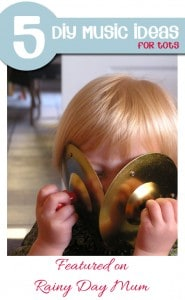Learning about music with kids - 5 DIY musical ideas for Kids featured on Rainy Day Mum