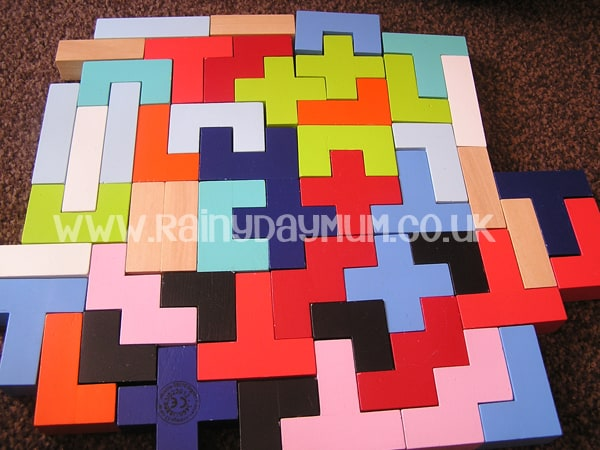 Completed Tetris - a problem solving block play for kids