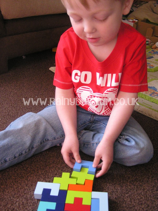 Real Life Tetris for kids and you to play together, problem solving and spatial awareness