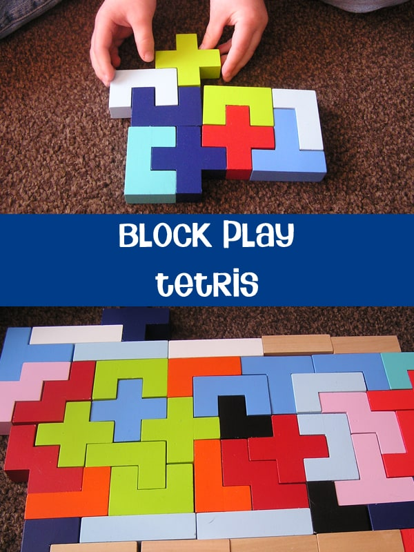 Block Play - Tetris a great problem solving game for you and your child to play together