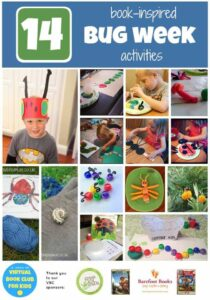 14 Activities for Bug Week as part of the Virtual Book Club Summer Camp hosted by Rainy Day Mum, Toddler Approved and The Educators' Spin On It