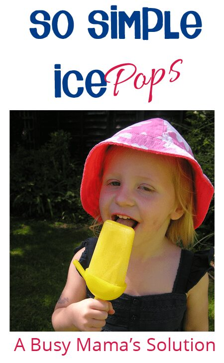 Simple ice pops for kids to make - a busy mamas cool down treat for the kids