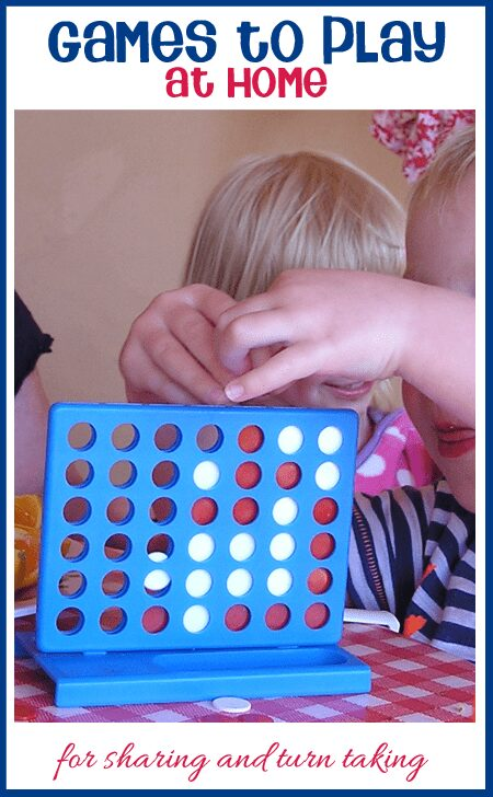 Simple Games to play at home that promote sharing and turn taking helping to prepare your child for kinder in the fall