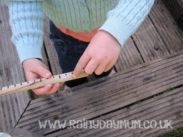 Science at home - measuring rainfall to record and observe the weather at home with toddlers and preschoolers