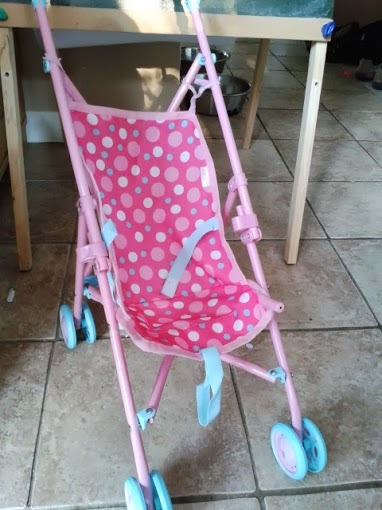 Pinspired Craft - repairing a dolls push chair
