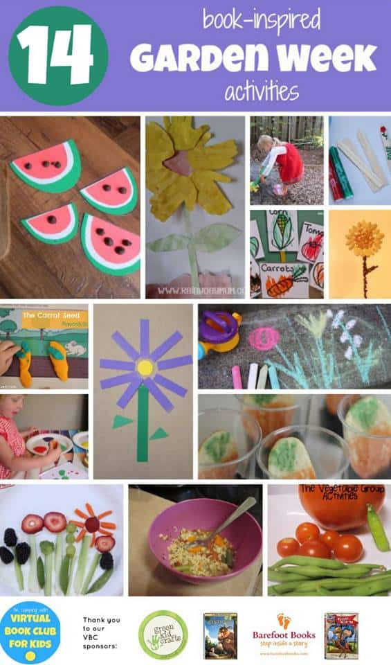 14 Garden Week Activities based on Book Activities as part of Virtual Book Club Summer Camp