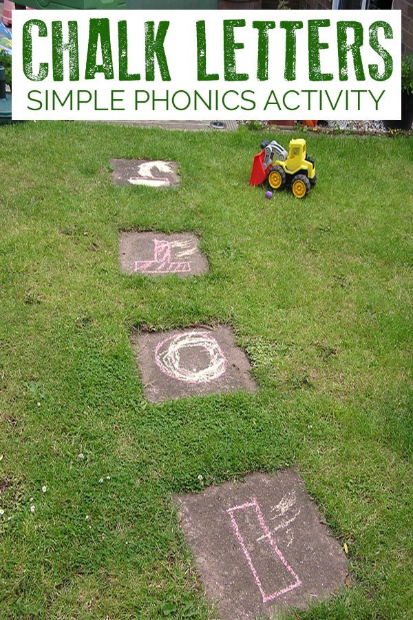 Chalk Letter Phonic Activity