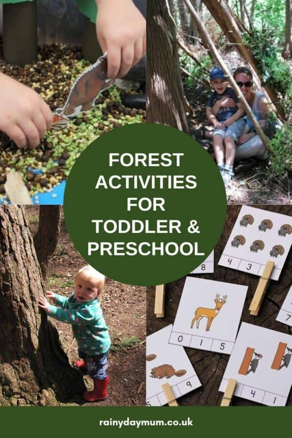 forest activities to do at home and in the woods with toddlers and preschoolers