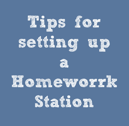 Tips for setting up a homework station for your kids